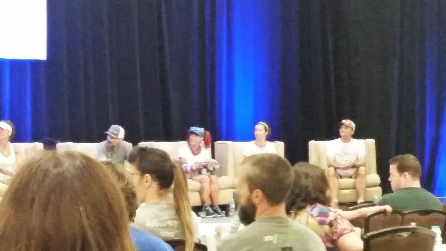 The six Icebreaker runners spoke during a panel at the  Mental Health America conference in Alexandria June 9.
